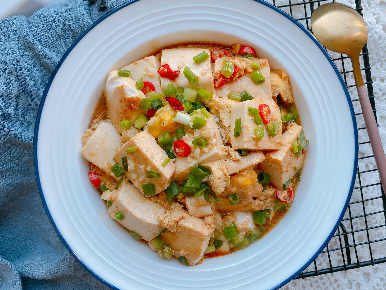 嫩豆腐最好吃的做法,经济实惠,简单2步,鲜香滑嫩拌饭真的绝了