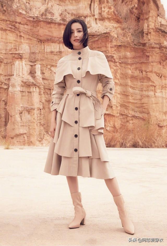 佟丽娅的风衣凭什么这么高级?看她的穿搭水准,你大概就懂了