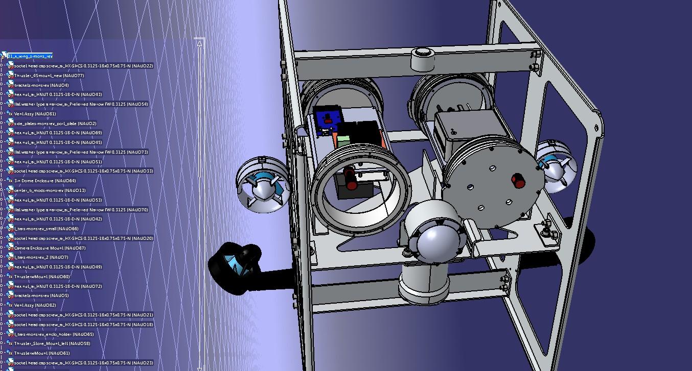 AUV欠驱动水下航行器3D数模图纸 STEP格式