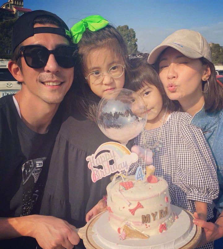 贾静雯三个女儿变化大,Bo妞颜值超咘咘,大女儿罕见露面