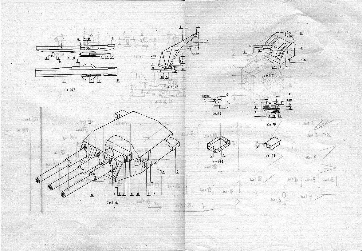 美国战列舰Missouri密苏里号船模平面图纸 jpg格式