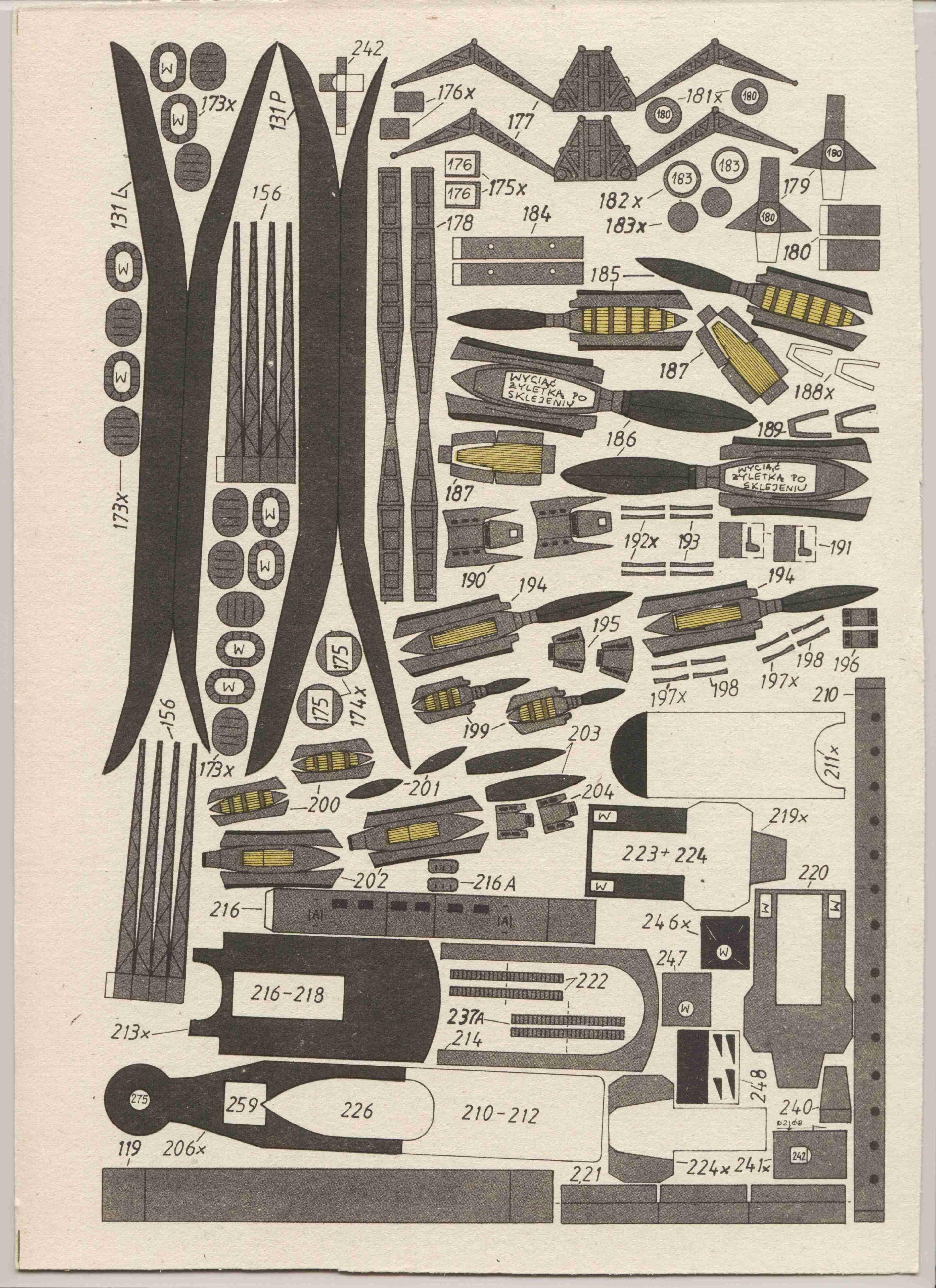 英国航母皇家方舟号船模平面图纸 JPG格式