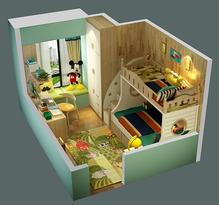 90后辣妈亲自改造儿童房,引来全小区妈妈参观