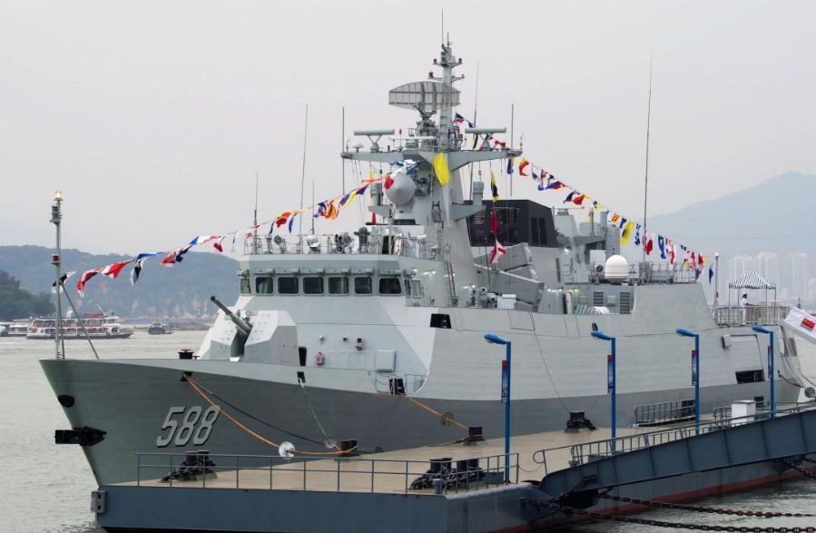 耗资500亿,10年连续建造72艘,国产056型护卫舰究