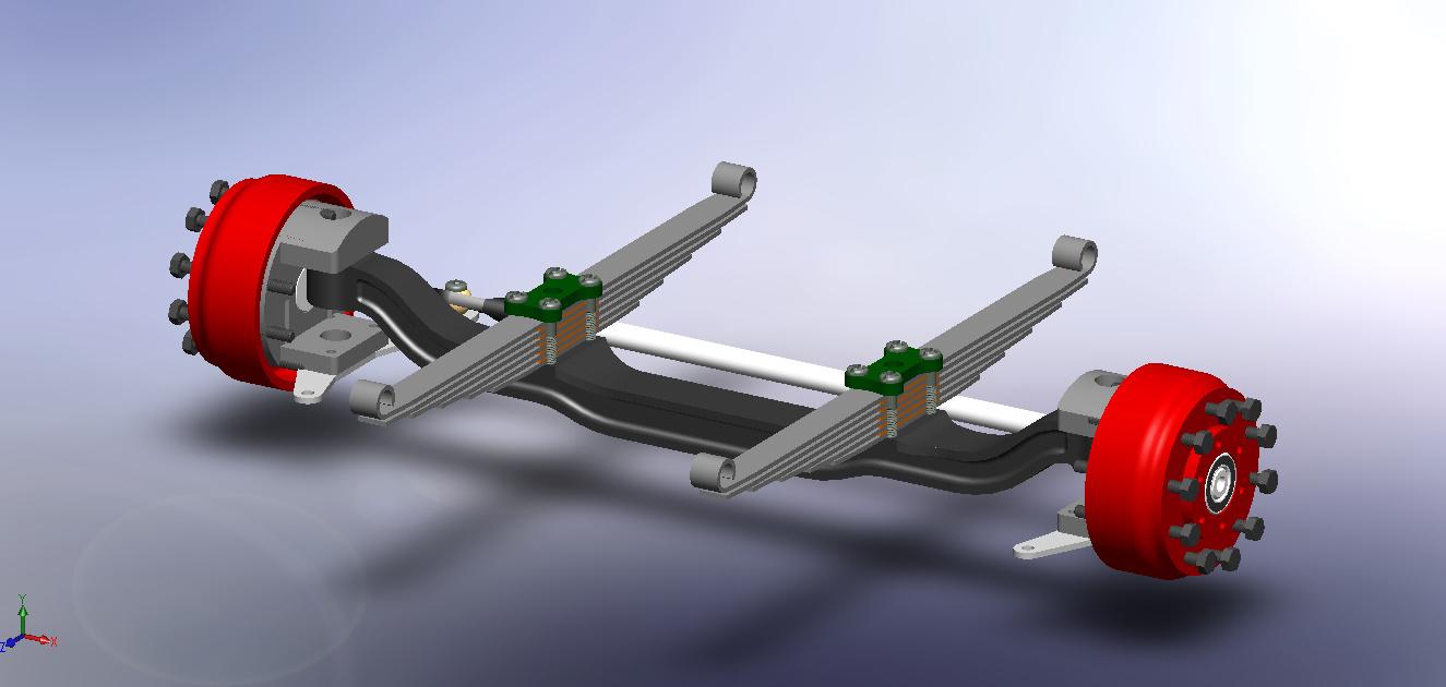 bandicam悬挂系统简易结构3D图纸 STEP格式