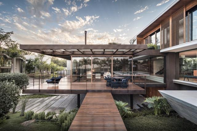 环境与建筑的完美融合——巴西Frame House