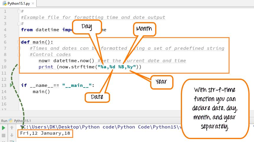 DAY6-step6 Python DateTime, TimeDelta, Strftime(Format)