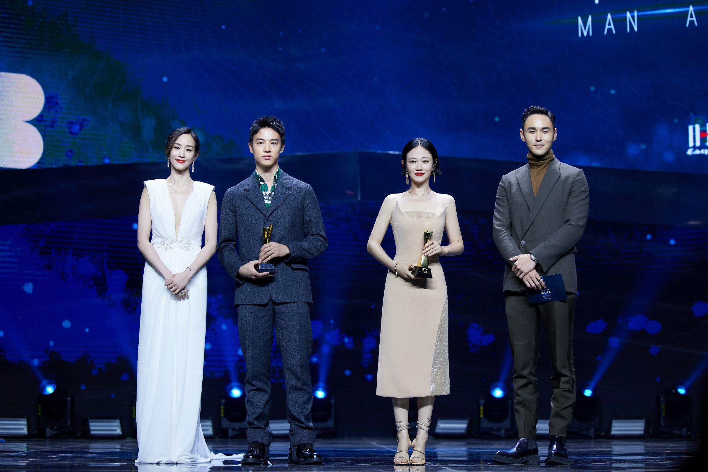 譚卓亮相時尚先生盛典 獲頒年度電影演員