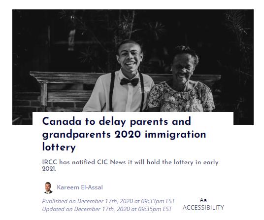 一周移民 | 加拿大父母团聚延期开奖;澳洲投资移民重大改革