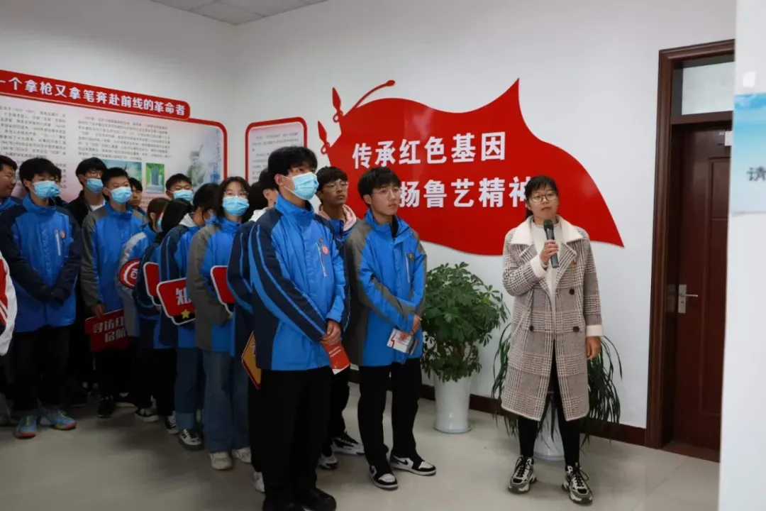 江苏建湖县建湖中专组织红色启航青年学习社线路打卡活动