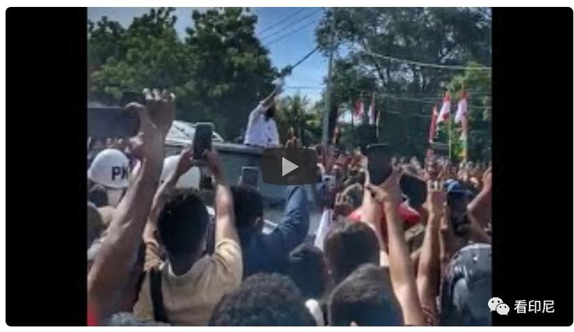 """印尼民众为了总统,新冠也成""""浮云"""""""