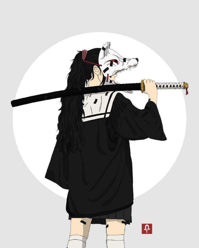 画师笔下的战斗少女,不仅有拿刀的连步枪都有,组队打妖怪可以啊