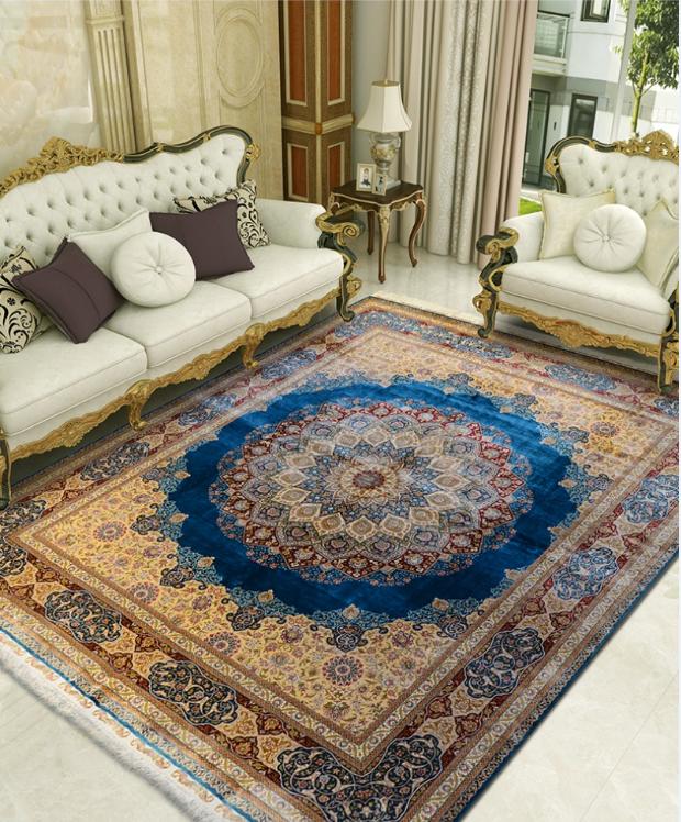 手工真丝地毯的日常保养及清洗小贴士